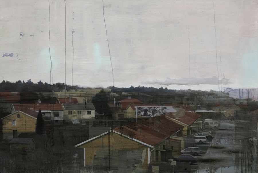 """Residential zone"" Oil on linen 135 x 200 cm"