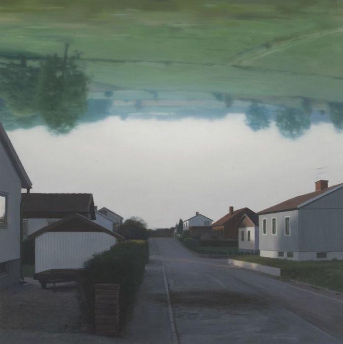 """Och tomrummet däremellan / And the void in between"" Oil on linen 80 x 80 cm"