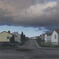 """Molnet / The cloud"" Oil on linen 80 x 80"