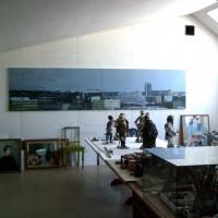 Installation view, Olle Nymans ateljé, Saltsjö Duvnäs. Summer 2012.